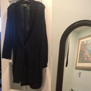 Eddie Bauer navy sweater jacket